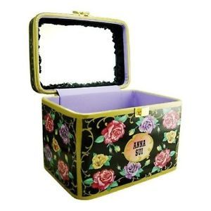 Anna Sui Vanity Rose Cosmetic Make Up Storage Box