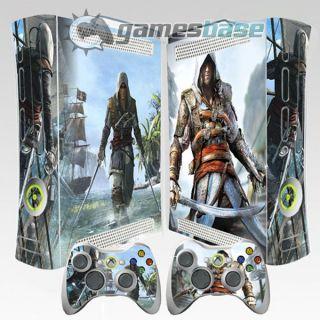 Assassins Creed Black Flag Xbox 360 Vinyl Skin Stickers 2 Controller Decals