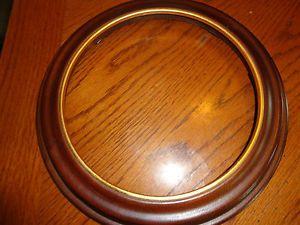 Round Wooden Decorative Plate Frame Van Hygan Smythe Wall Mount or Display