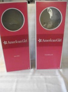 "2 New American Girl Empty Boxes 18"" Doll for Storage or Regift Saige Isabelle"