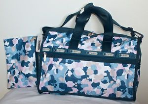 New LeSportsac Medium Weekender Style 7184 Tote Travel Bag Cosmetic Case