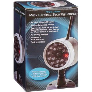 Wireless Fake Security Camera Motion Detector Sensor LED Bulbs CCTV Surveillance