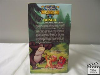 Bongo VHS Narrated by Jiminy Cricket Walt Disney Home Video 012257749038