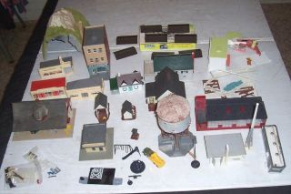 Big Lot HO Scale Train Buildings Towers Accessories to Super Detail Train Layout