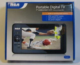 "Lot of 3 RCA RTV86073 7"" Portable Widescreen HD LCD TV Digital Televisions 062118860730"