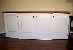 Custom Built New Solid Wood Flat Screen TV Stand Credenza Stunning
