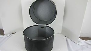 Vintage Black Bagmaster Vinyl Hat Wig Travel Case