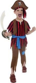 Pirate Boy's Fancy Dress Kids TV Movie Halloween Book Week Kids Child Costume