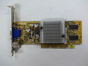 Older Asus Video Graphics Card for Desktop Computer Parts or Scrap Gold Fingers