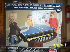 MD Sports 48 inch Foldable Table Tennis Game Includes Accessories