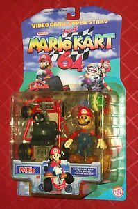 Toy Biz Video Game Superstars Mario Kart 64 Mario with Motorized Kart