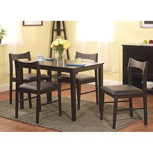 dining set black 5 piece breakfast nook traditional modern decor