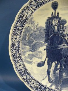 "C805 Married Couple on 15¾"" Delft Wall Plate by Regout"