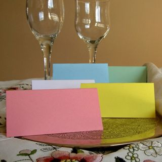 Wedding Party Meal Table Place Setting Name Cards Birthday Anniversary Blank
