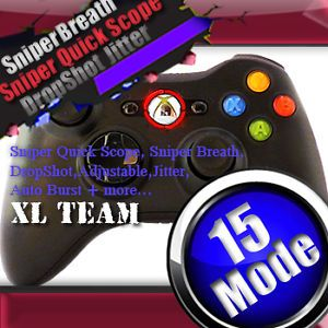 Xbox 360 Rapid Fire Modded Controller Quick Scope Breath Mod Cod MW3 Black Ops