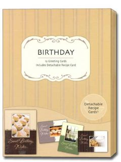 Sweet Birthday Wishes Recipe Greeting Cards Box of 12