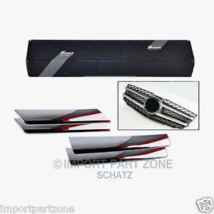 Mercedes Benz Hood Bonnet Grill Chrome Strips Kit 204 GLK Schatz Tuning Germany