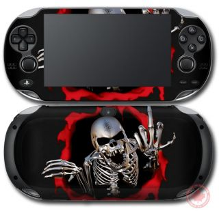 Cool Skull Skin Sticker Decal Vinyl Cover for PS Sony PlayStation Vita