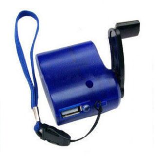 2pcs Dynamo Hand Crank USB Cell Phone Emergency Charger Gift