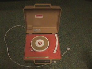 Vintage GE General Electric Solid State Record Player 45 33 RPM Works