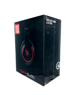 Beats Studio 2014 Headphones Over Ear Black Dr Dre New 011110428585