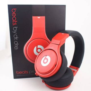 The Beats by Dr Dre Pro Cable Ear for Head Studio Headphones by Monster Red