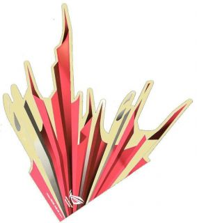 Original Asus Republic of Gamers Aufkleber Rog Flame Flamme Rot Sticker R O G