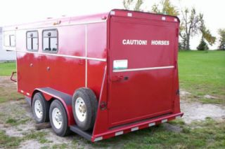 Reflective Red Gold or Orange Caution Horses Sign for Horse Trailer Vinyl Tape