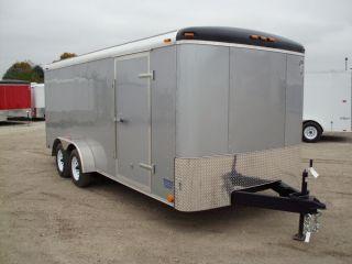 8461 New 7x18' Enclosed Cargo Trailer 2014 Atlas 7K GVW Ramp Door Side Door LED
