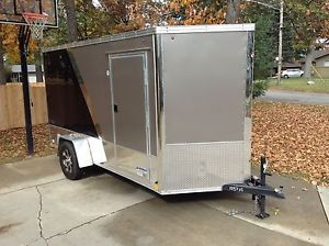 United Enclosed Motorcycle Trailer 6x12 XLMTV Ramp