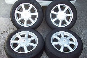 "17"" Cadillac cts 2008 2012 Wheels Michelin Tires 235 55 17 5x120"