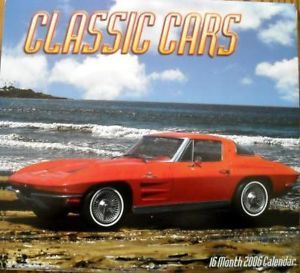 Classic Cars 2006 Calendar Hot Rods Pin UPS Corvettes Muscle Cars