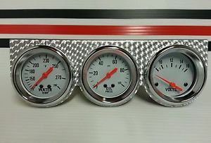 "2 5 8"" White Face Guages Vtg Hot Rods Rat Rods Chevy Ford Mopar Pontiac Style"
