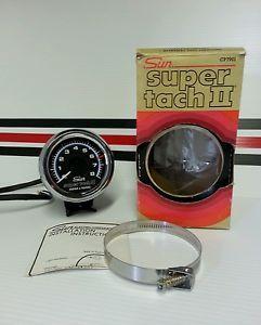 Sun Super Tach II Blue Line Vtg Hot Rods Rat Rods Chevy Ford Mopar Pontiac