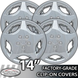 """2000 2004 Ford Focus 14"""" Silver Clip on Hubcaps Wheel Covers"""