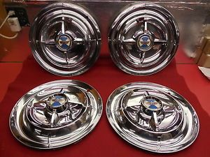 "4 Used 56 Dodge Custom Royal Royal Lancer 15"" Wheelcovers Hubcaps 1619683"