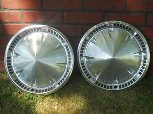 Vintage 1959 Plymouth Hubcaps Wheel Covers