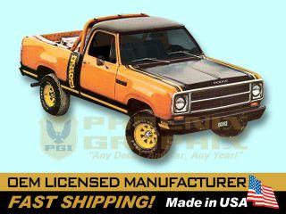 1979 1980 Dodge Macho Power Wagon Truck Decals Stripes Kit