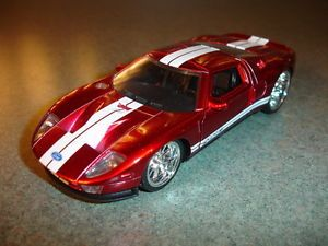 Collectible Red Diecast Jada Toys 2005 Ford GT Toy Car Doors Open and Close