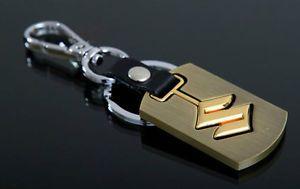 C2 New Auto Car Truck Accessories Gold Color Keychain Keyring Gift Suzuki