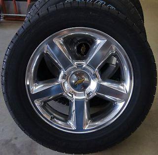 "New Chevy Silverado Tahoe Suburban Avalanche LTZ Polished 20"" Wheels Rims Tires"