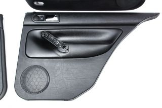 Door Panel Set VW Jetta MK4 Sedan Black Leather Panels Genuine OE Volkswagen