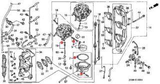 16010 ZV4 005 Honda Carburetor Gasket Set for 9 9 15 25 30 35 40 45 50 75 90