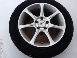 Bridgestone Blizzak Snow Tires Mounted on Alloy Rims 205 55 R16 5 Hole Bolt Pat