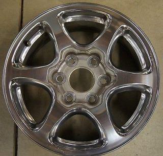 "GMC Sierra Yukon Denali Factory 17"" Polished Wheel Rim 5132 2 Free Shipng"