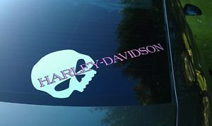 Harley Davidson Skull Logo Decal Sticker