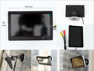 "5"" inch HD LCD Monitor Parking Kit Wireless Reverse Camera with 4 Parking Sensor"