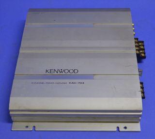 Kenwood 4 Channel Power Amplifier Model KAC 744