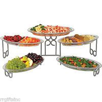 Buffet Server Three Tier with Five Serving Stations by Waterfall