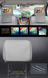"Eonon L0218 9"" Digital Screen Leather Car Headrest Monitor PAL NTSC Infrared"
